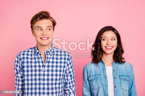 istock Portrait of nice sweet charming lovely attractive cheerful cheer 1092657930