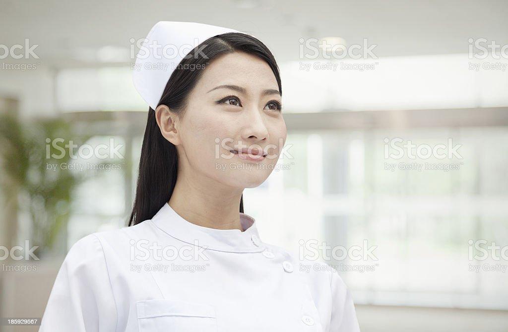 ポートレートの看護師、中国、水平 - 1人のロイヤリティフリーストックフォト