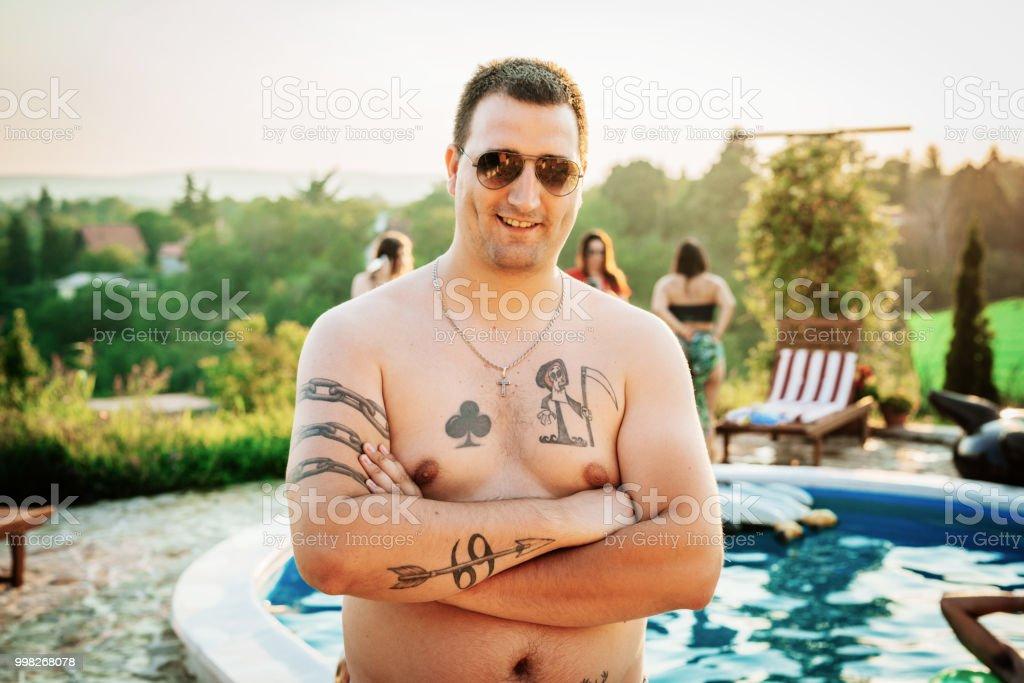 Tatoo poolside enjoyment