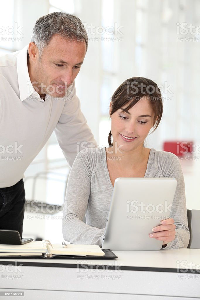 Portrait of office workers royalty-free stock photo