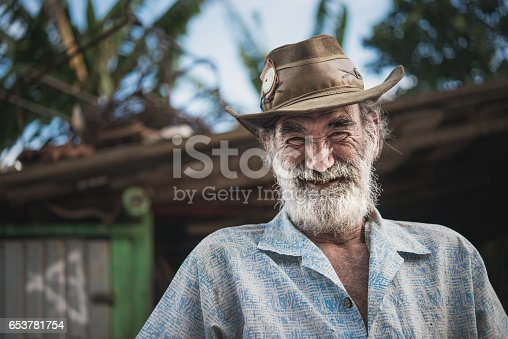 Portrait of a urban wagon horse worker, Brazil