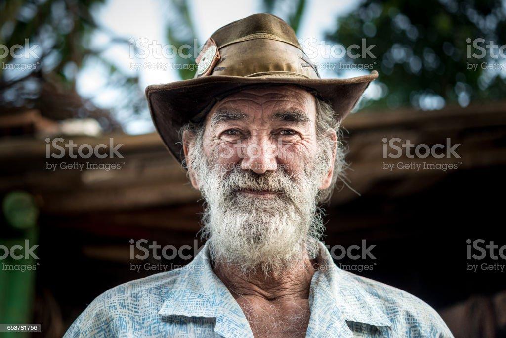 Portrait de vieillard, travailleur de wagon de cheval, Brésil - Photo