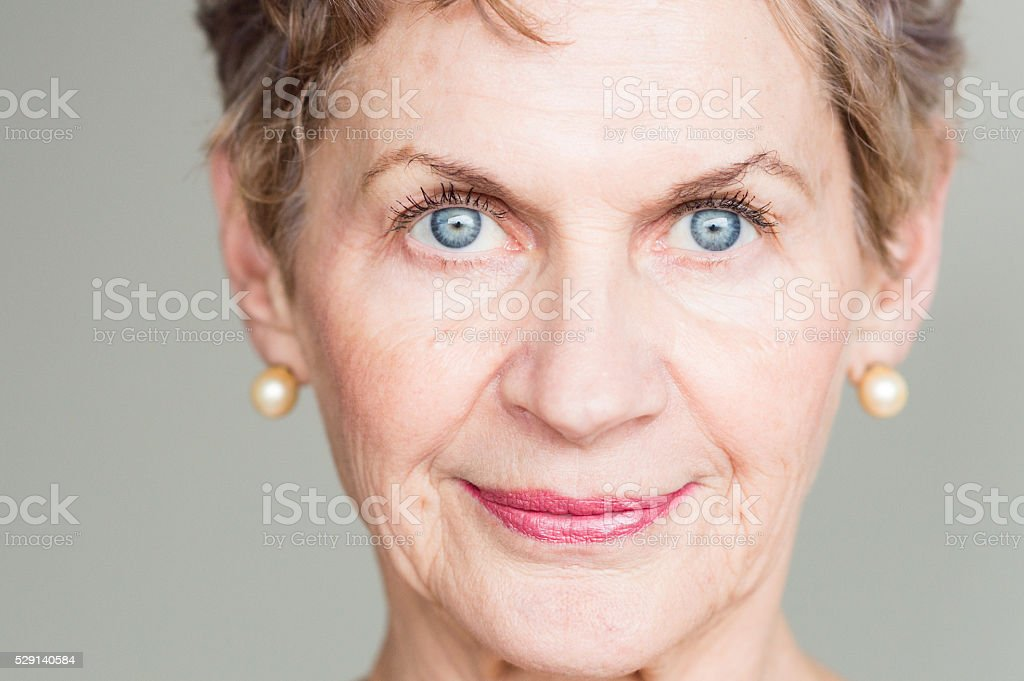 Portrait of older woman stock photo