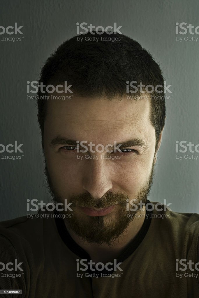 Portrait of ominous man royalty-free stock photo