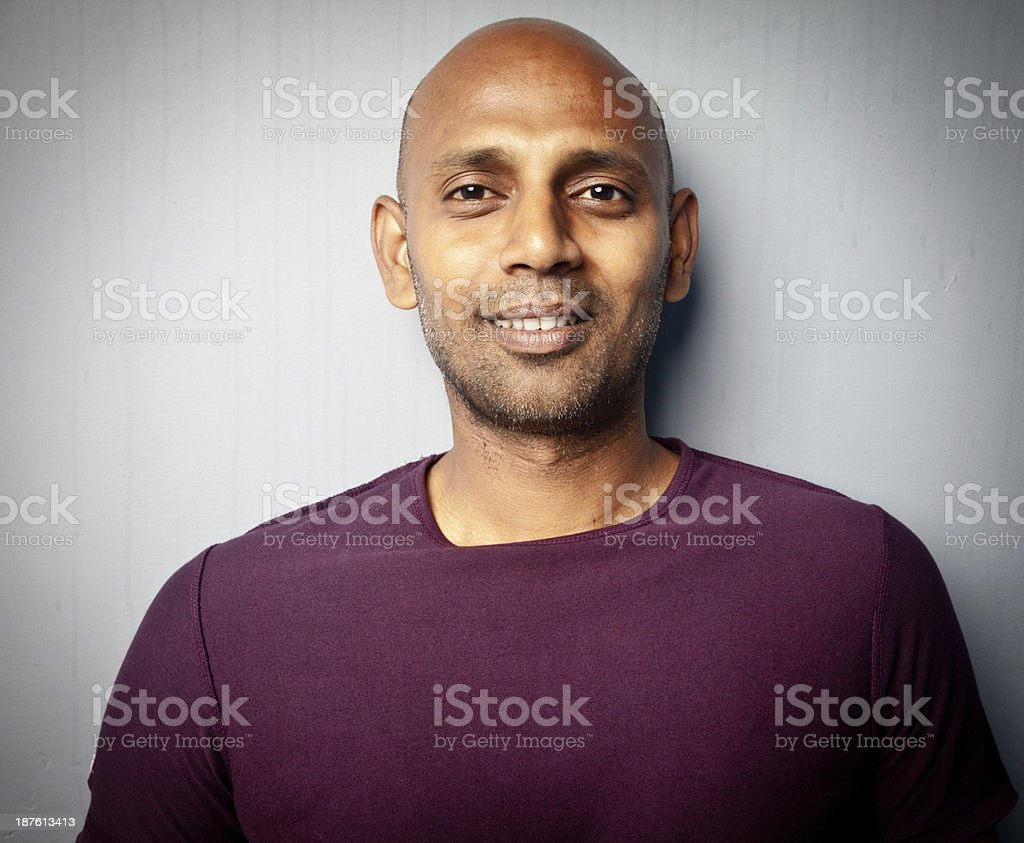 Portrait of One Indian Man royalty-free stock photo