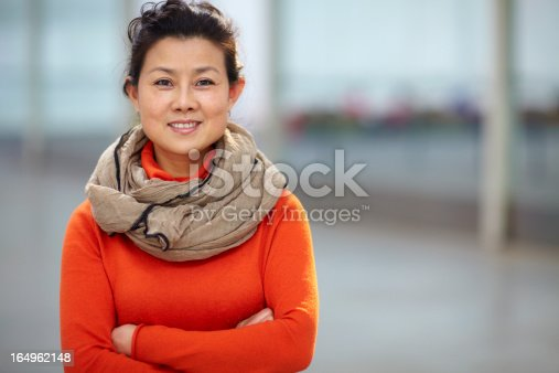 istock portrait of one mature Chinese woman 164962148
