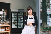 istock Portrait of owner of sustainable small local business. Shopkeeper of zero waste shop standing on interior background of shop. 1190360767