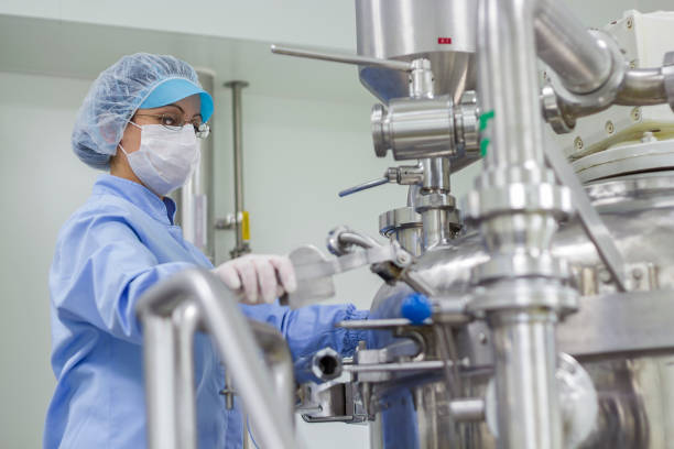 Portrait of Pharmaceutical Worker - Sterile Environment stock photo