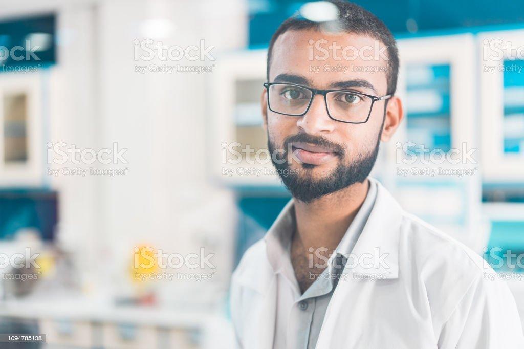 Retrato de farmacéutico. - foto de stock