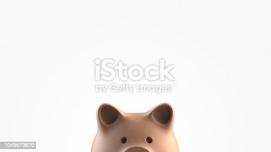Portrait of piggybank peeking