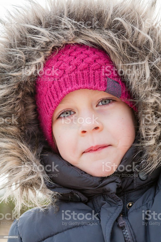 portrait of playful girl royalty-free stock photo