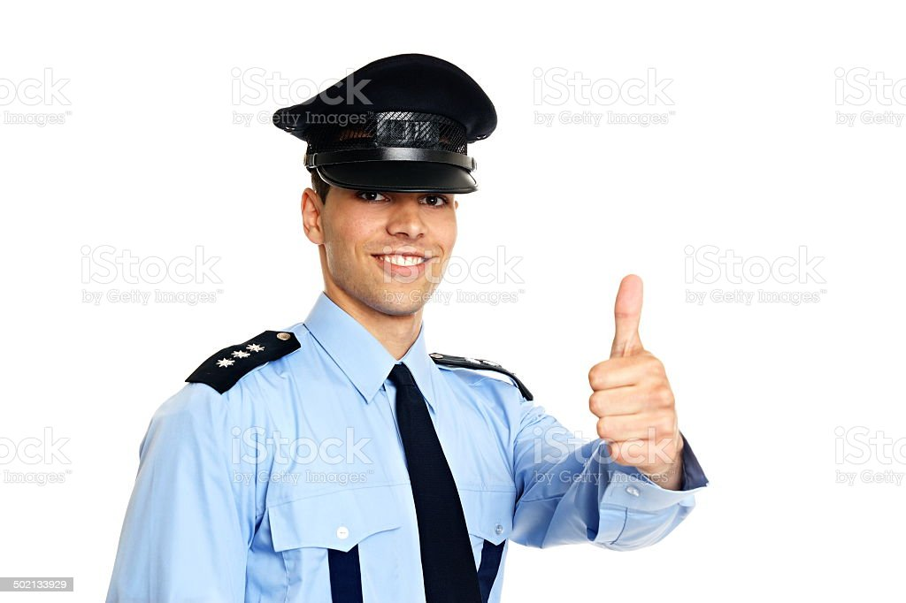 Portrait of policeman in uniform royalty-free stock photo