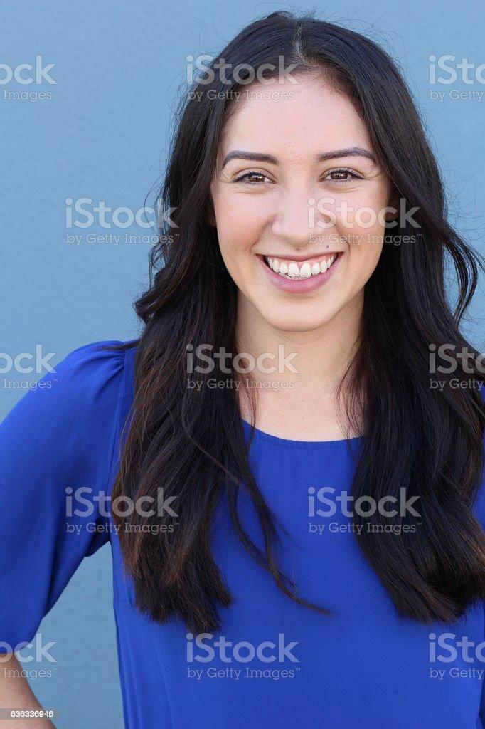 Portrait Of Pretty Young Woman Smiling - foto de acervo