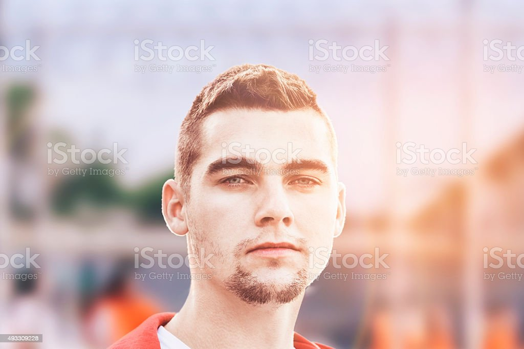 Portrait of Prisoner stock photo