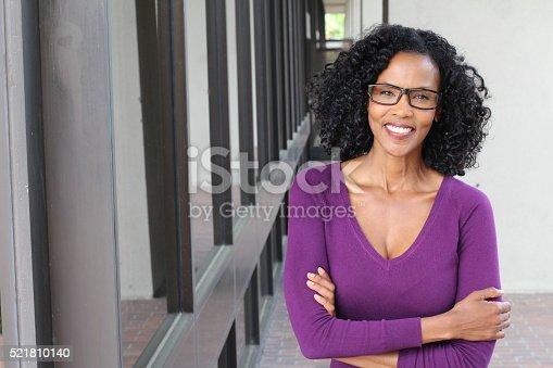 istock Portrait of professional black businesswoman 521810140