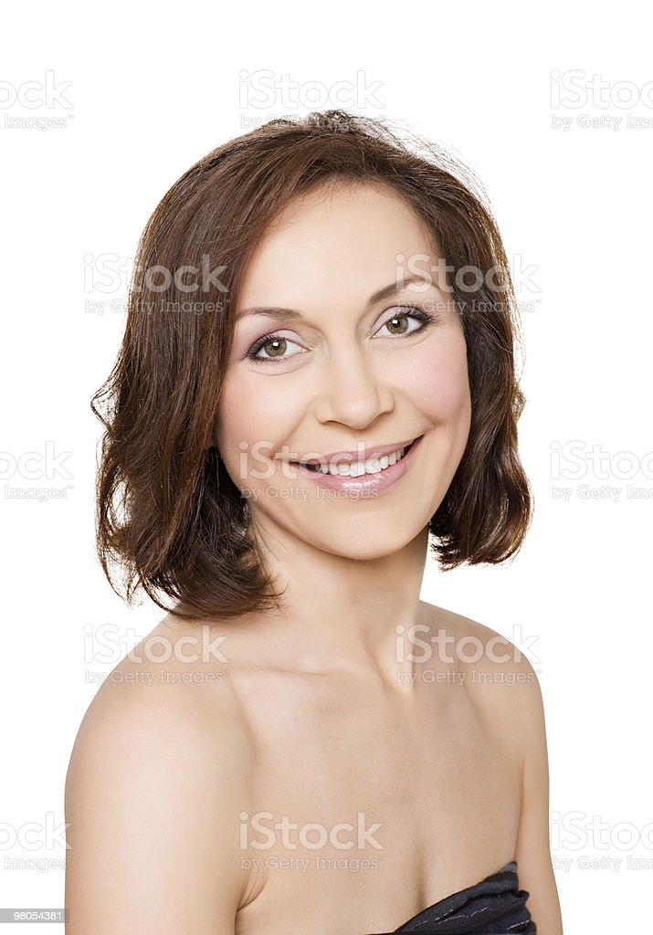 portrait  of professional model without make-up royalty-free stock photo