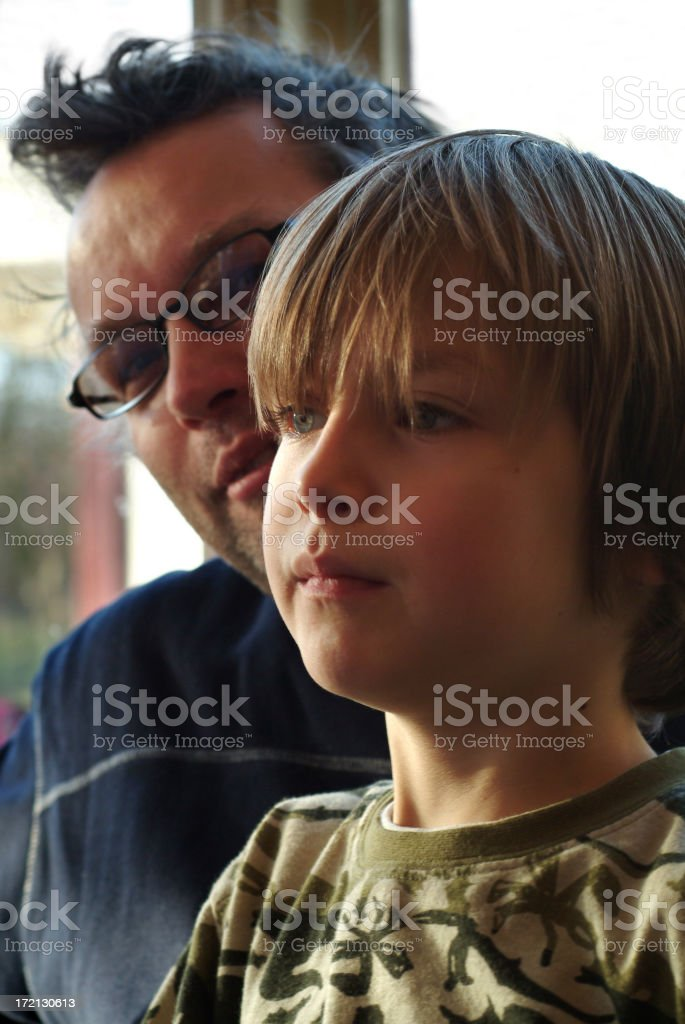 Portrait of Proud father and son royalty-free stock photo