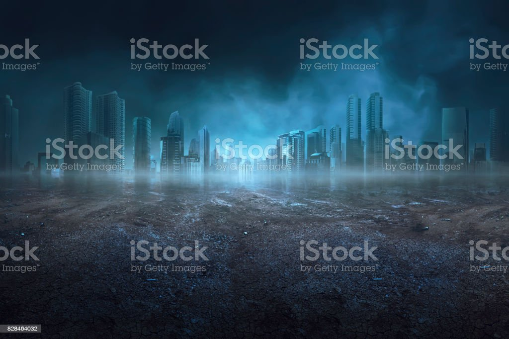 Portrait of quiet and dark scene stock photo