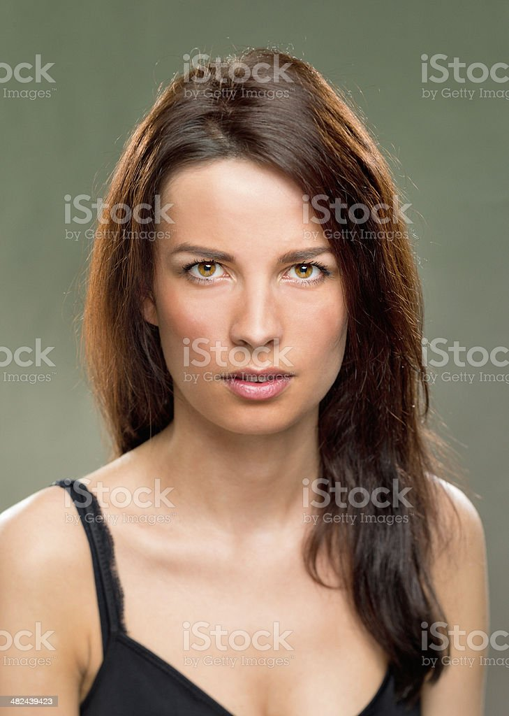 Portrait of real woman royalty-free stock photo