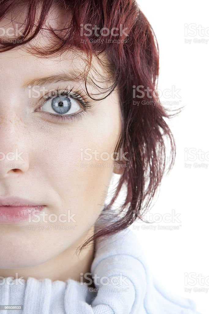 Portrait of red haired woman royalty-free stock photo