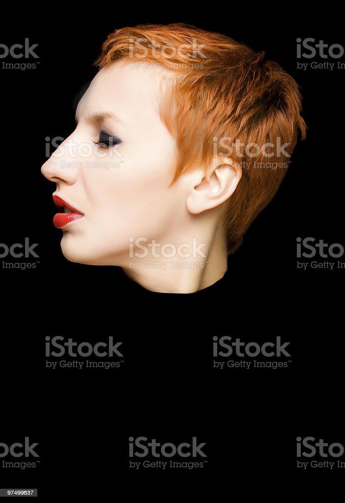 Portrait of redhead girl royalty-free stock photo