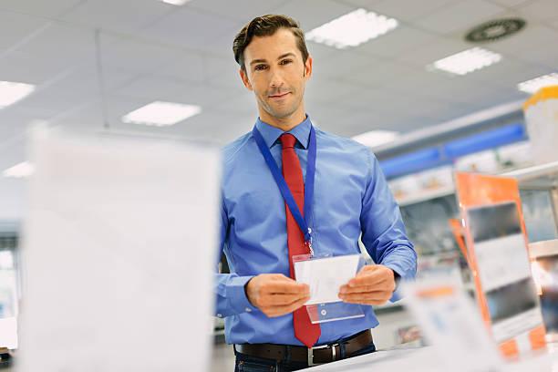 Porträt von retail store manager – Foto