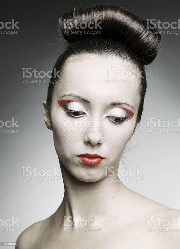 portrait of sad woman royalty-free stock photo