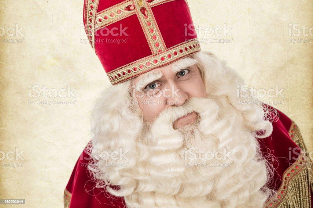 portrait of Saint Nicholas stock photo