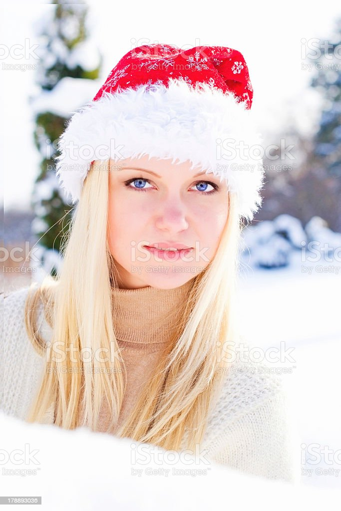 Portrait of santa girl royalty-free stock photo
