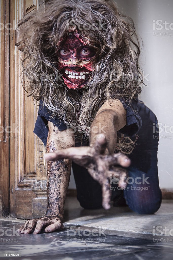 Portrait of scary girl royalty-free stock photo