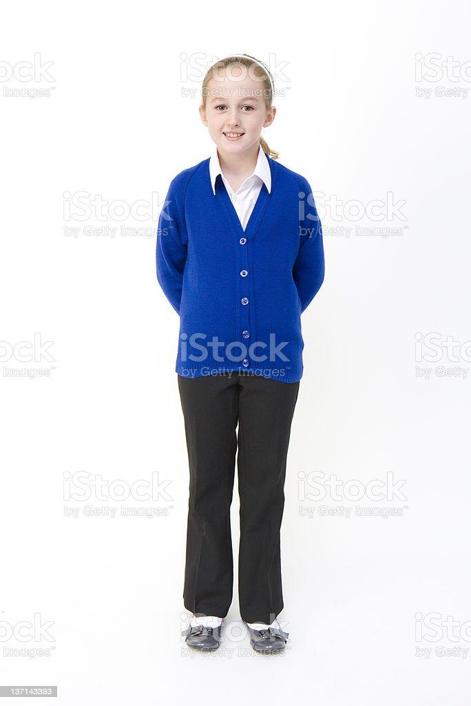 Portrait of Schoolgirl stock photo