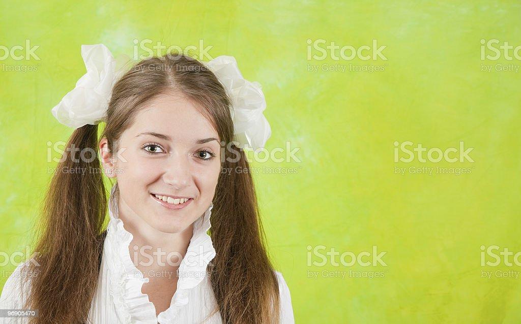 Portrait of schoolgirl royalty-free stock photo