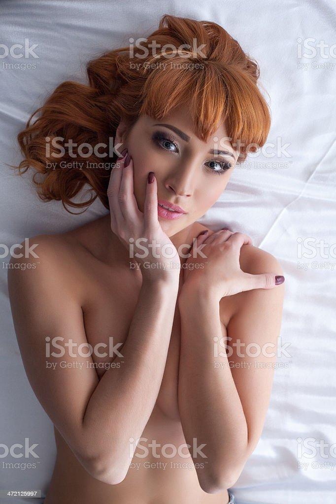 Seductive redhead