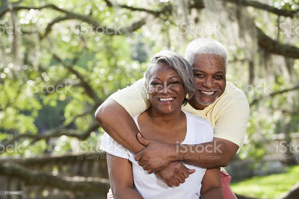 Portrait of senior African American couple stock photo