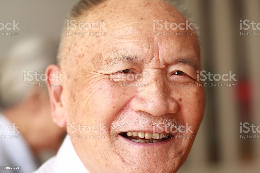 portrait of senior asian people royalty-free stock photo