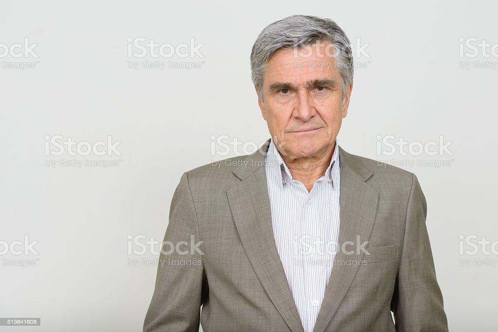Porträt des älteren Geschäftsmann – Foto