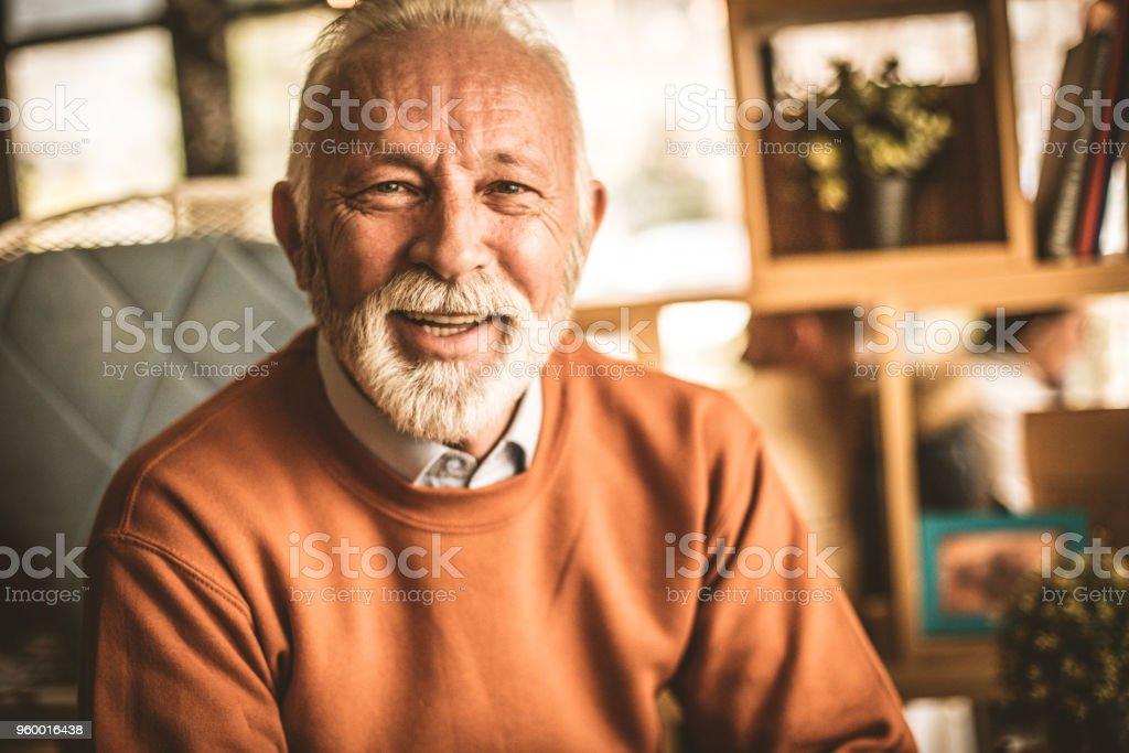 Portrait of senior businessmen. Smiling . stock photo