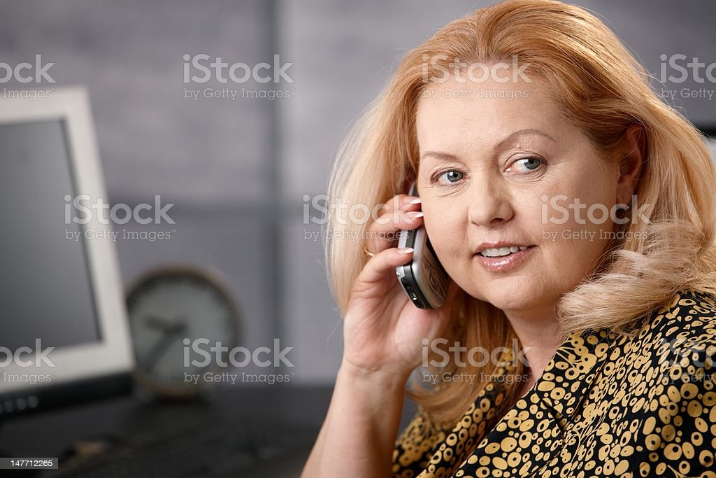 Portrait of senior businesswoman royalty-free stock photo