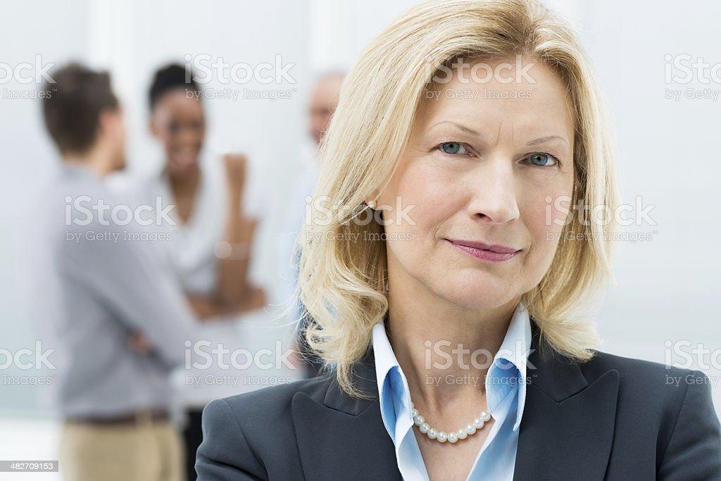 Portrait Of Senior Businesswoman royalty-free stock photo