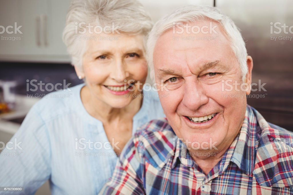 Portrait of senior couple royalty-free stock photo