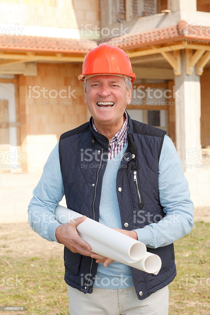Portrait of senior engineer stock photo