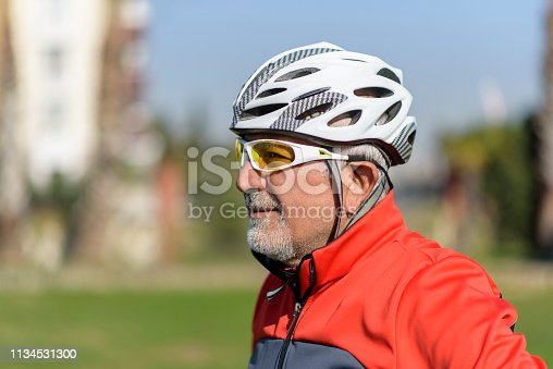 1029243348 istock photo Portrait Of Senior Male Cyclist 1134531300