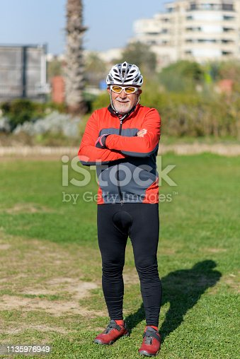 1029243348 istock photo Portrait Of Senior Male Cyclist 1135976949
