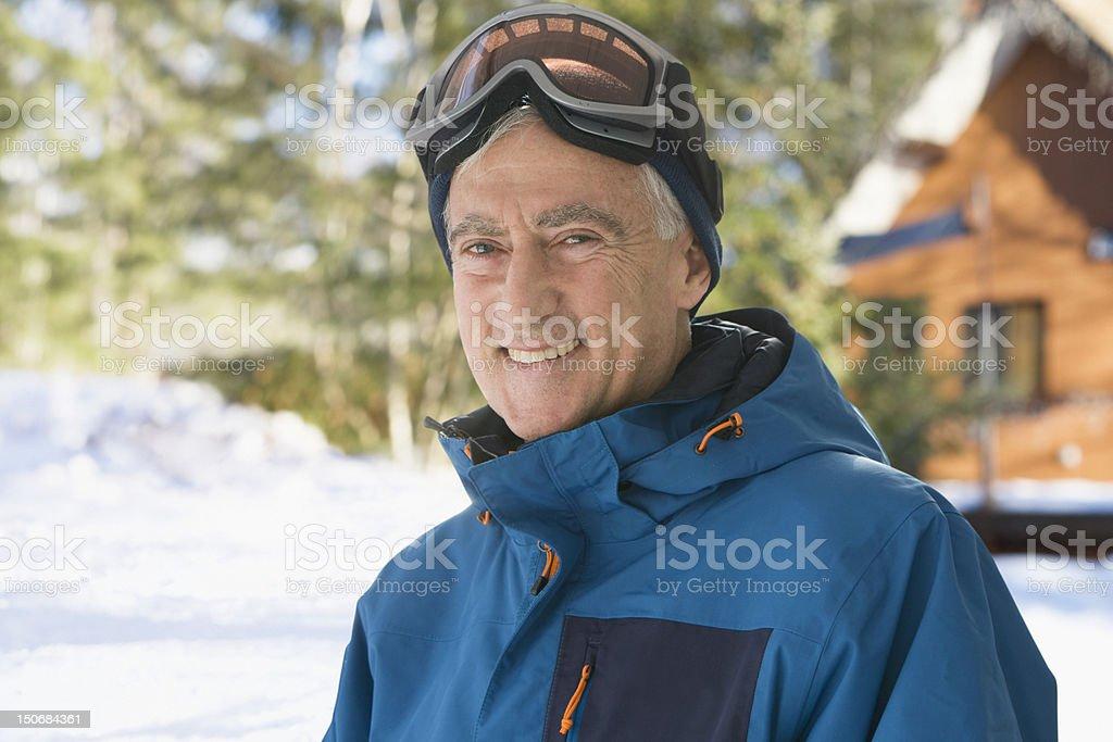 Porträt von Alter Mann im Freien – Foto