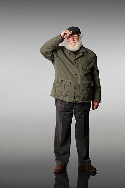 Porträt von senior Mann in cap – Foto