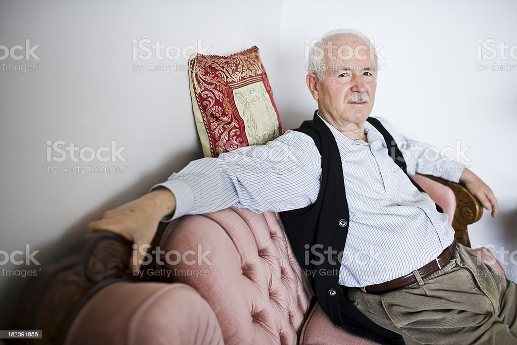 Portrait of Senior Retired Man royalty-free stock photo
