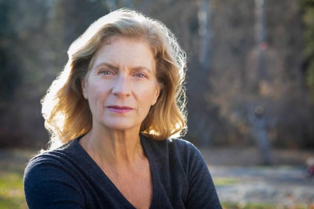 Portrait of senior woman outdoors.