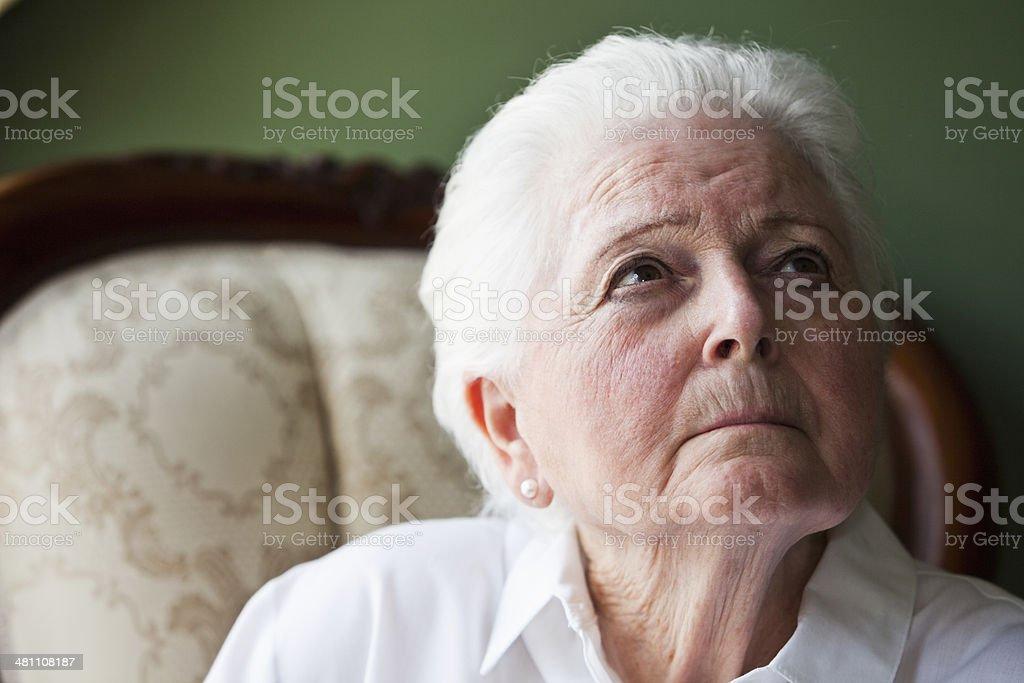 Portrait of senior woman stock photo