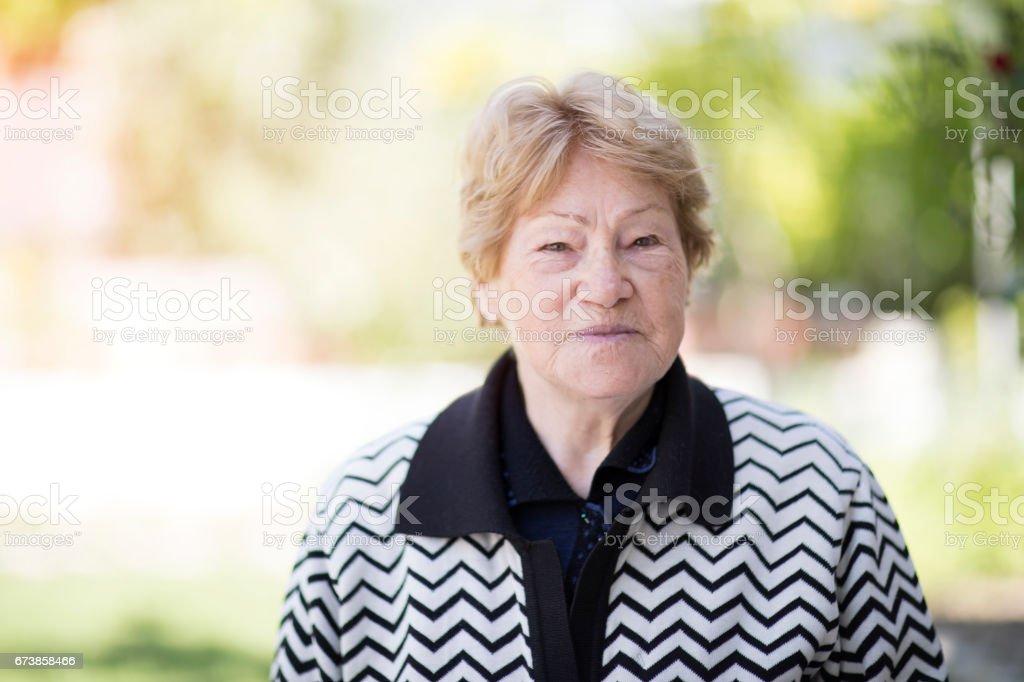 Portrait de femme âgée photo libre de droits