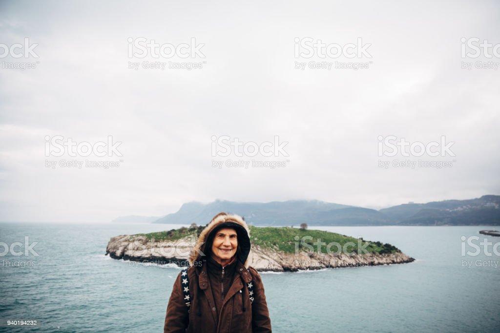 Üst düzey kadın Amasra, Türkiye portresi stok fotoğrafı